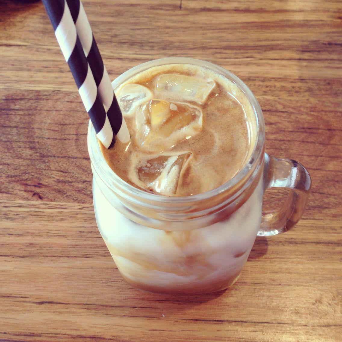 Almond milk iced coffee iced coffee almond milk peanut