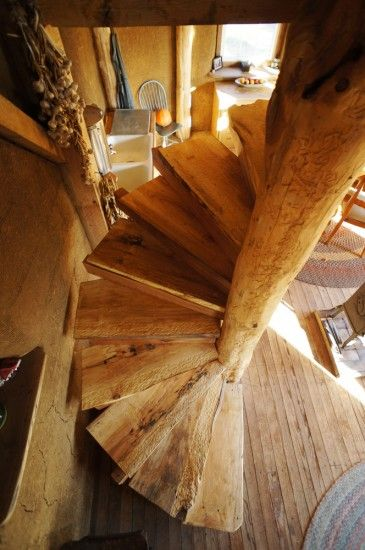 Diy Wooden Spiral Staircase Design How We Built It With Images Staircase Design Straw Bale House Spiral Staircase