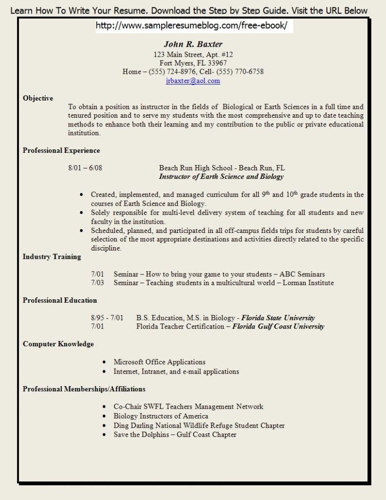 Cv Format For Teachers Yahoo Image Search Results Download