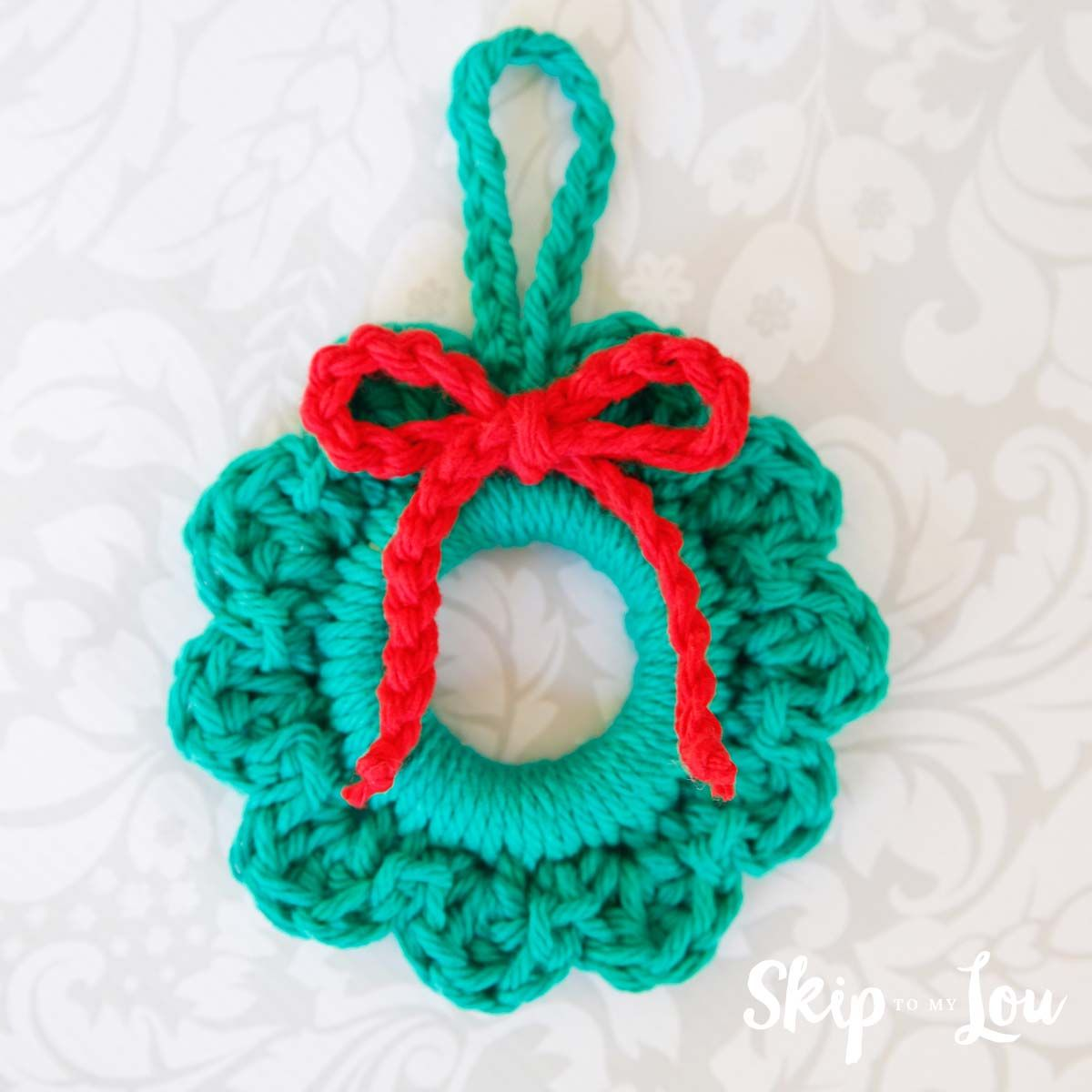 Easy Crochet Wreath Ornament Christmas Cards And Crafts Crochet