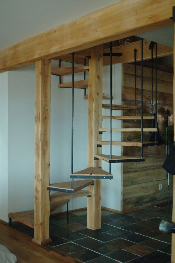 Best Rustic Suspended Spiral In 2019 Rustic Staircase Silo 400 x 300
