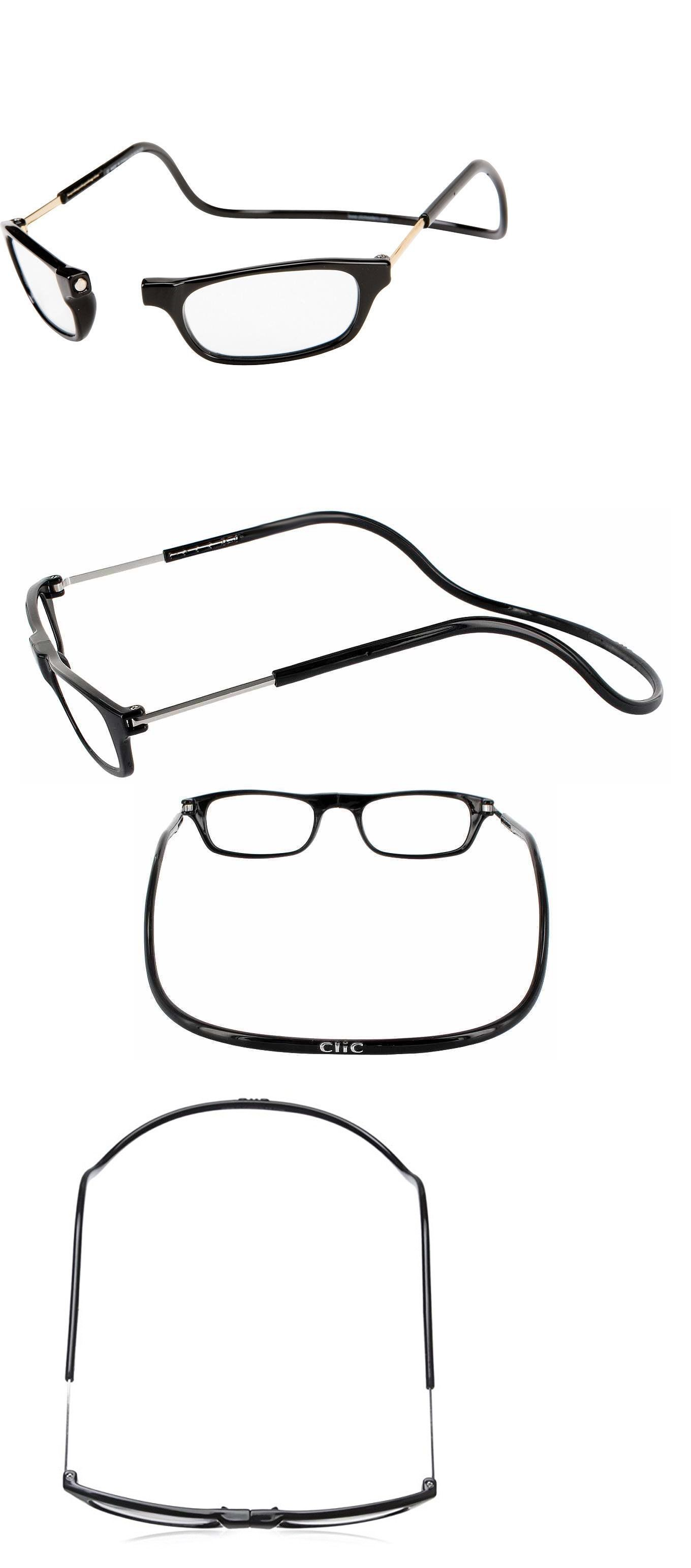 f5a0376ab2 Vision Care 31414  Magnetic Front Reader Glasses Clic Clickit Clicker Snap  Black 1.25 To 3.00