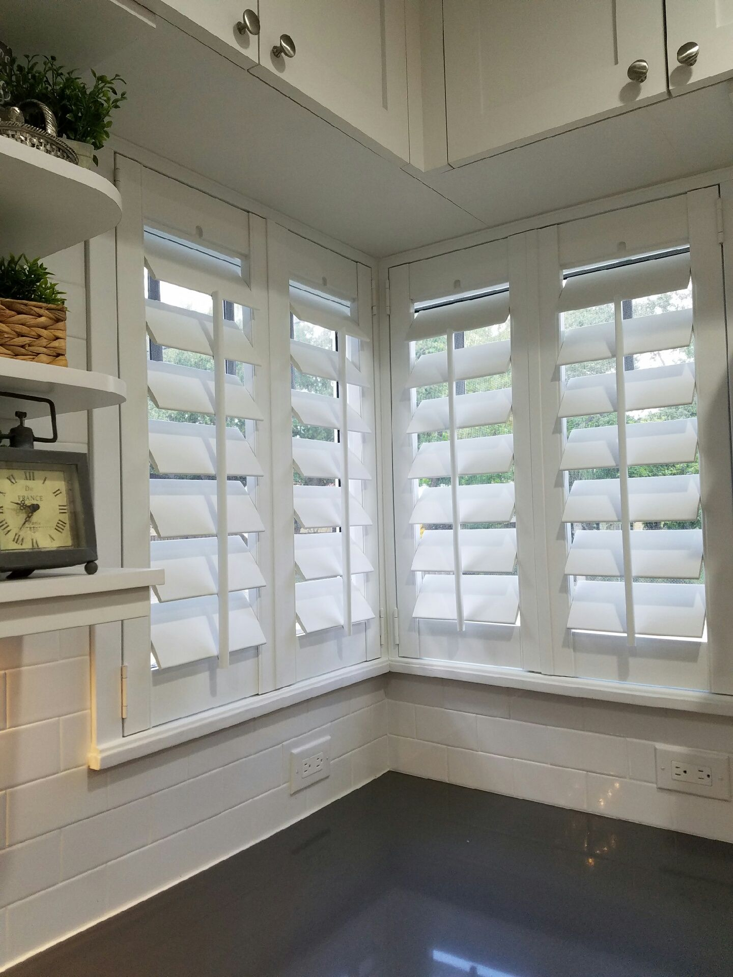 window treatments miami kitchen corner window plantation shutters by elite decor treatments miami