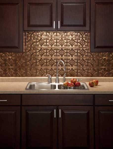 Fasade Backsplash Panel Traditional 1 In Oil Rubbed Bronze