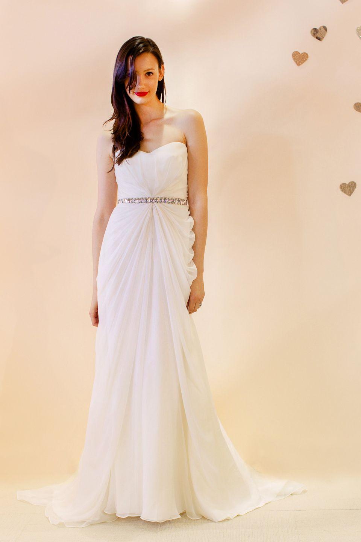 Claire Chiffon Starburst Draped Gown Wedding Dresses Wedding