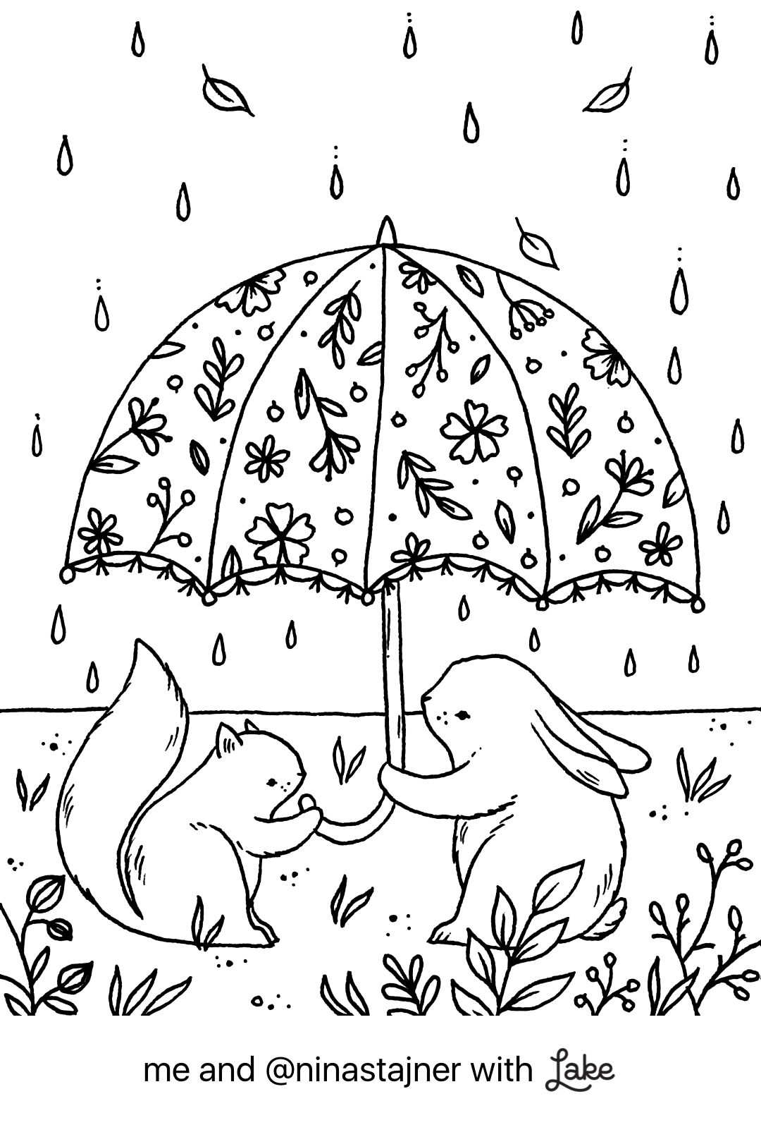 Coloring Page From Lake Coloring App