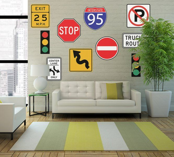 College Signs Decoration Leave That Do Not Bring Any Official Traffic And Street Signs To
