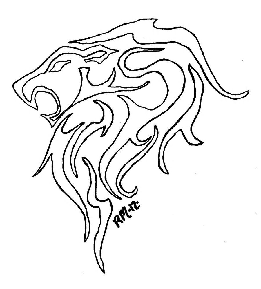 erics lion outline by richardmeeker on deviantart