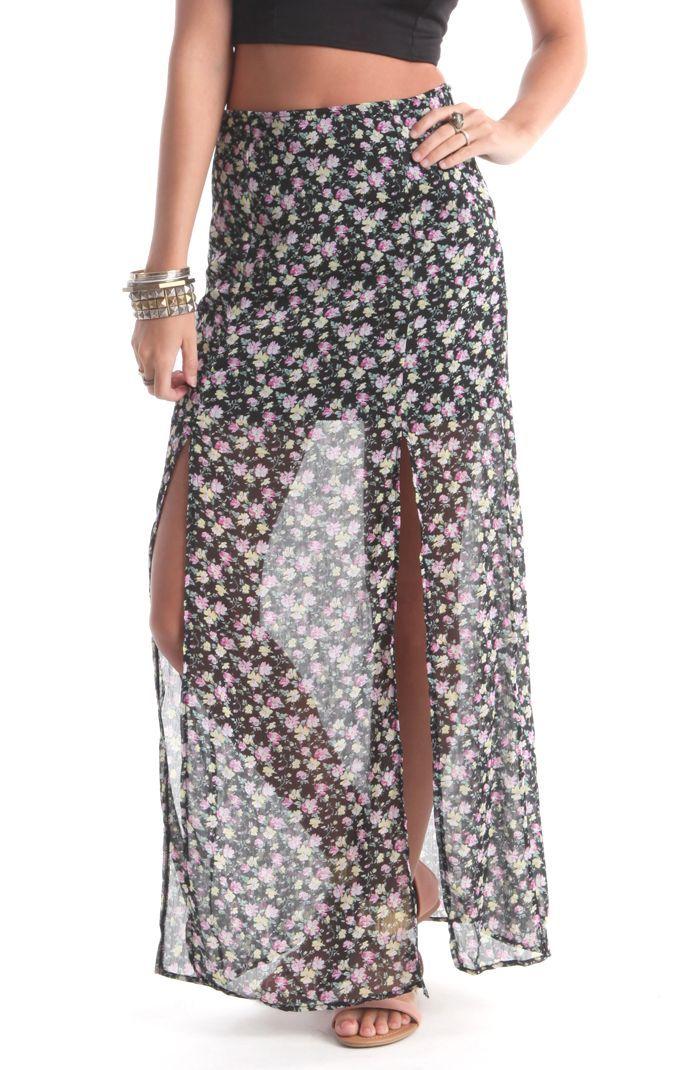 18e7fbf17cbf Lottie Moss Double Slit Maxi Skirt | Wearables! | Cute maxi skirts ...