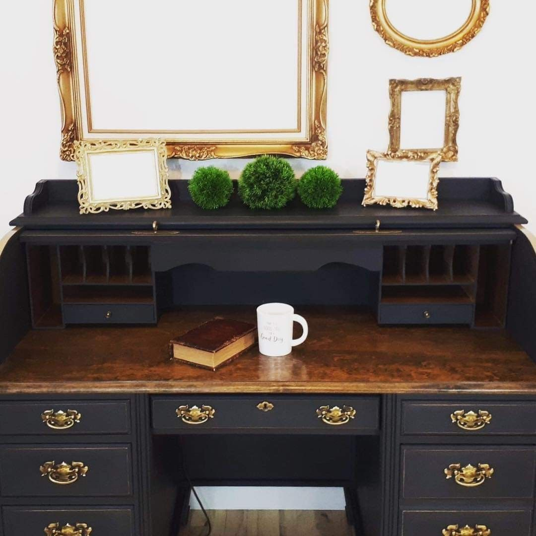 Jacobean Desk Top Desk Makeover Diy Redo Furniture Desk Redo