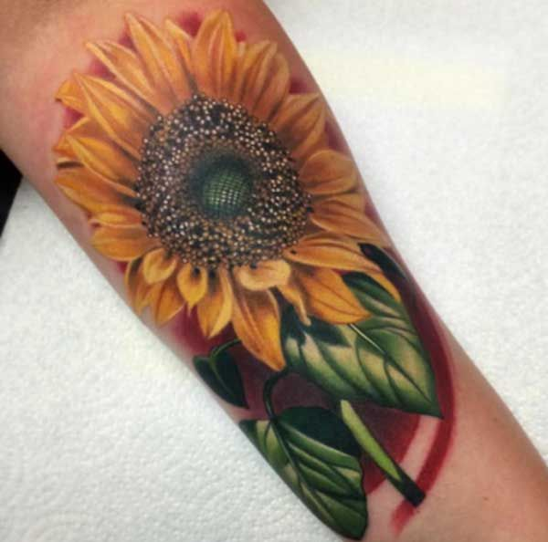 Best 24 sunflower tattoos design idea for women tattoos for Realistic sun tattoo