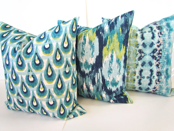 Turquoise Pillows Teal Pillows Blue Throw Pillow Covers Turquoise Throw Pillows Navy Blue Throw Pillows Teal Pillows