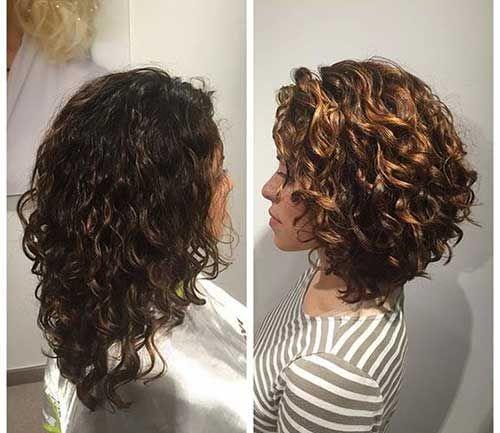 15 Foto 39 S Van Korte Krullende Kapsels Voor Dames Lockige Frisuren Kurze Lockige Frisuren Frisuren Fur Lockiges Haar