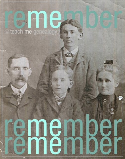"""Cries from our Ancestors; """"Remember Me"""" ~ Teach Me Genealogy"""