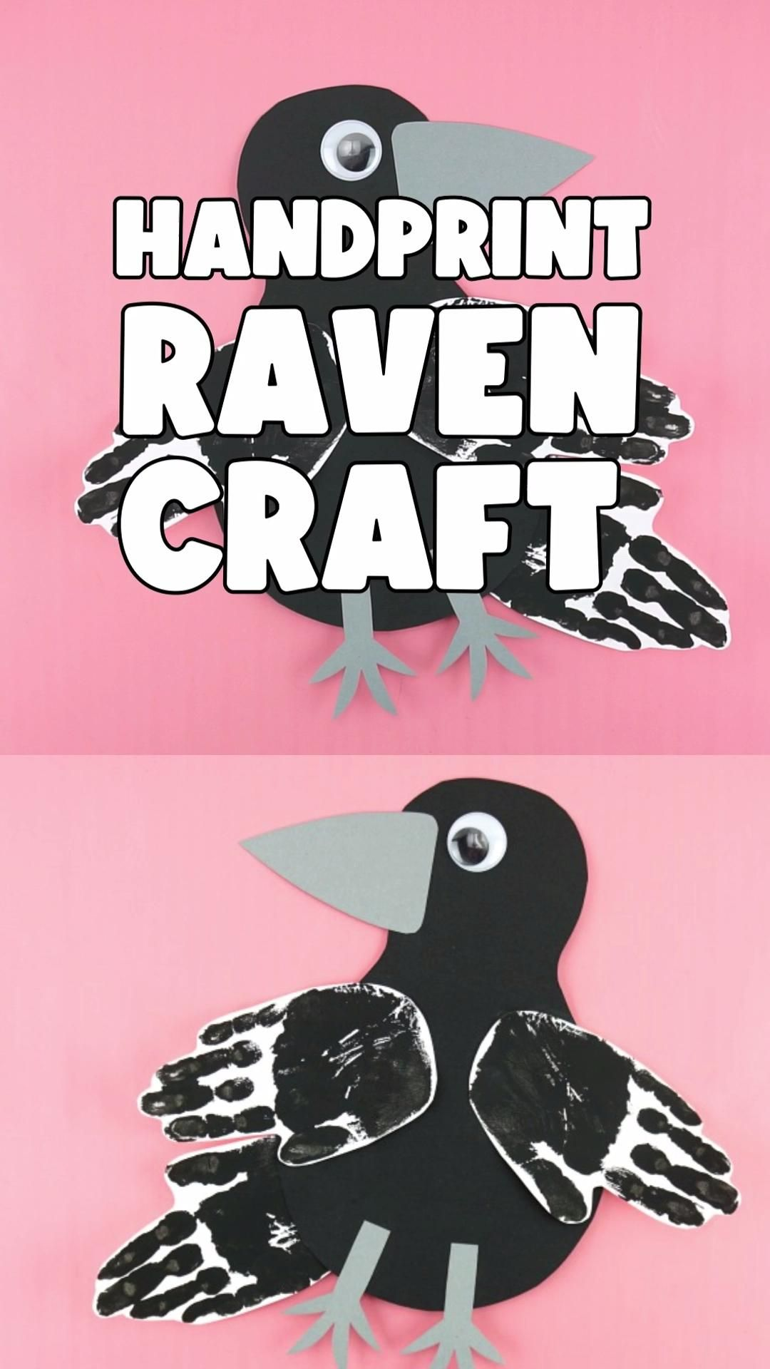 Photo of Handprint Raven Craft for Kids