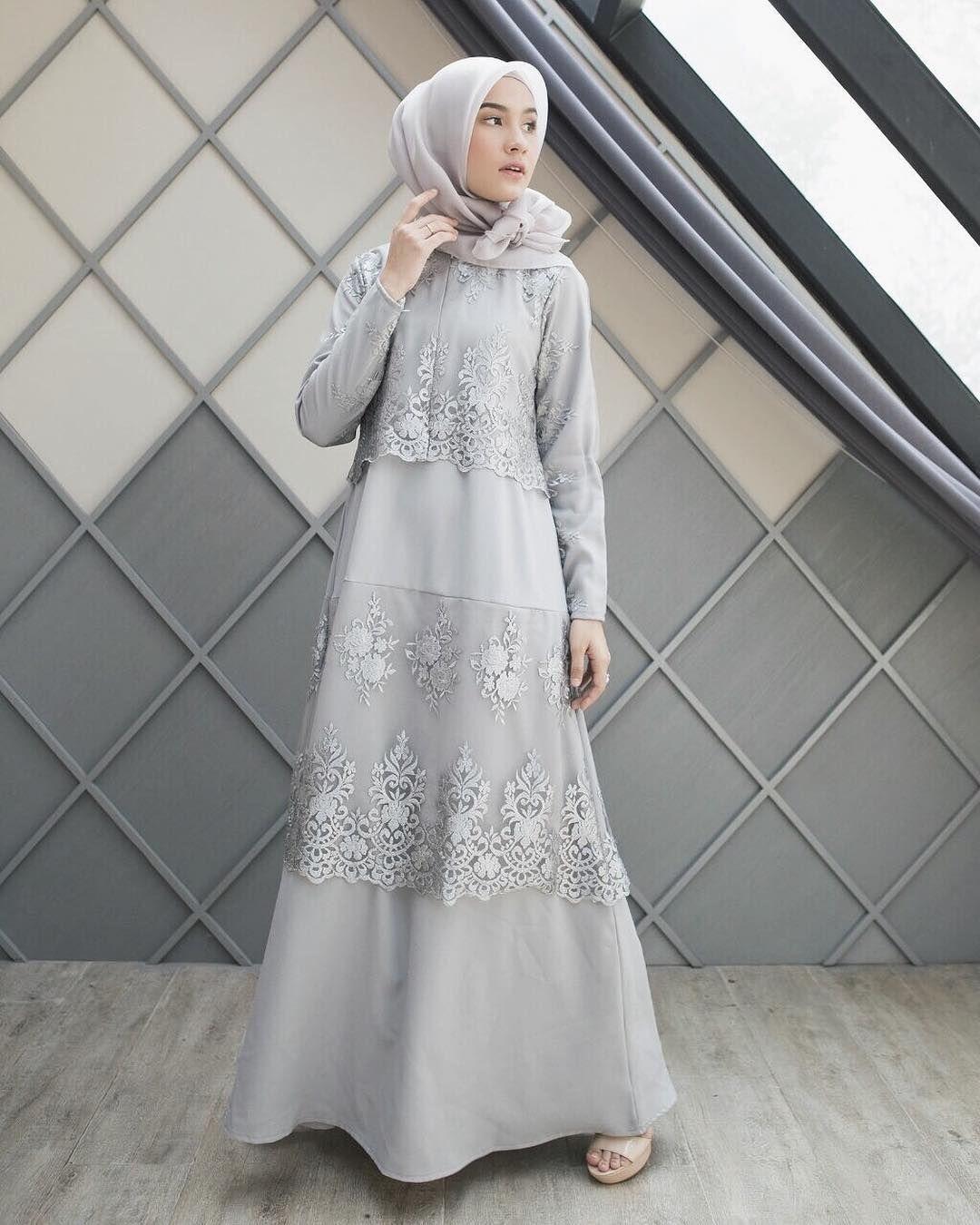 Model Baju Muslim Gamis Batik: Pin By Asiah On Muslimah Fashion & Hijab Style(Niqab) In