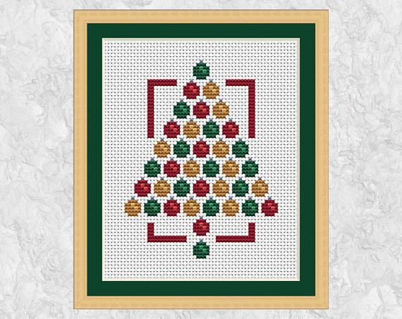 Counted Cross Stitch Pattern Embroidery Chart PDF Christmas magic of red