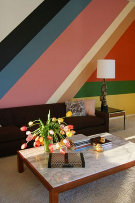 Wall On The Wild Side Rooms That Wow Painting Stripes On Walls Decor Striped Walls
