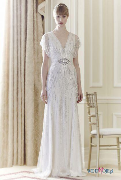 Biała Suknia ślubna Jenny Packham Retro Slub Wesele Wedding