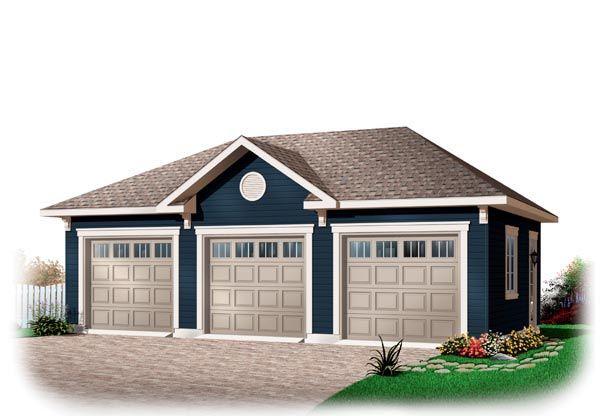 3 Car Garage Plan Number 76153 Garage Plans Detached Three Car