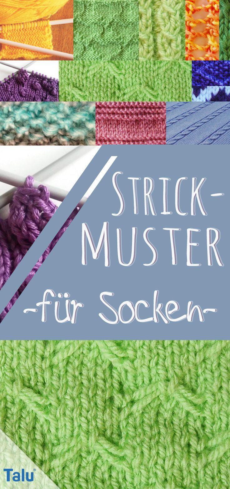 Strickmuster für Socken: 10 kostenlose Muster #strickenundnähen