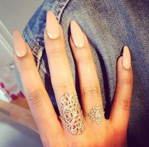 Neutral stiletto nails | Claws | Pinterest | Stilettos, Neutral and ...