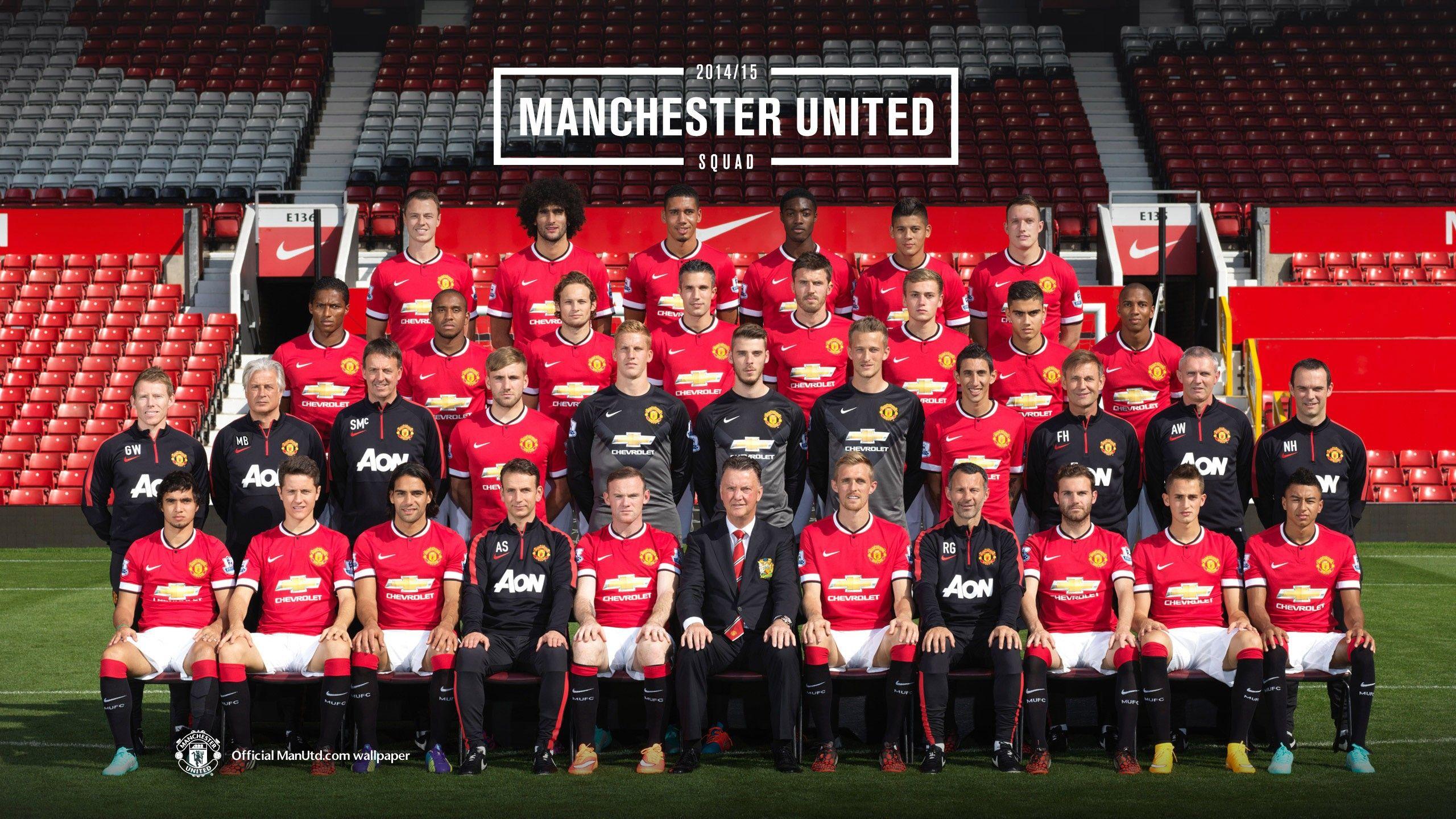 Manchester United Wallpaper Manchester United Squad Wallpaper