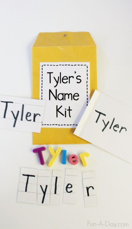 How to Make and Use Name Kits for Preschool Name Practice