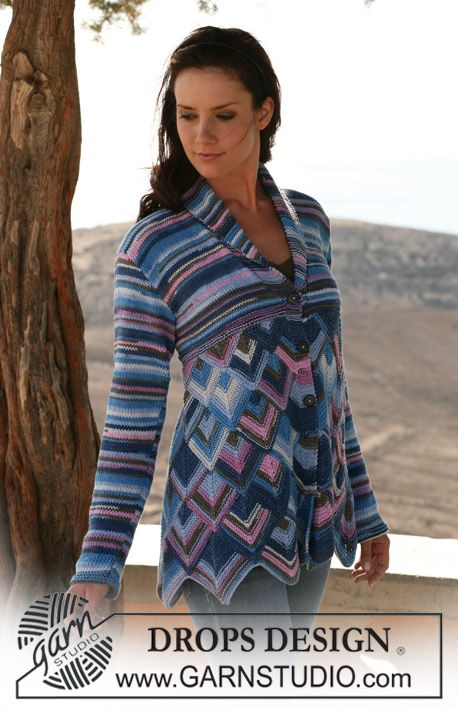 Drops Jacket In Domino Diamonds And Stocking St In Muskat Soft