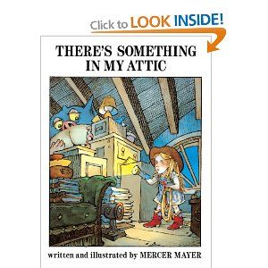 This book features a feisty girl in blonde pigtails, nightgown, cowboy hat, and boots. When Mom and Dad don't believe that there's a nightmare in the attic, she decides to lasso it and bring it downstairs to show them