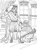 David Helps Mephibosheth Coloring Page Sunday School Coloring