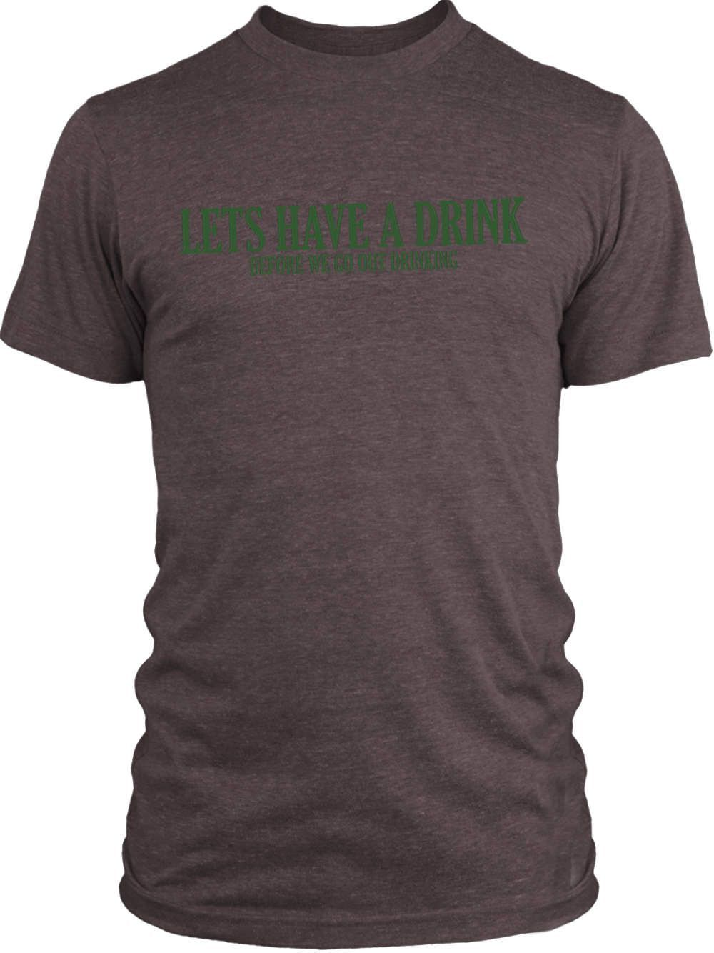Big Texas Lets Have a Drink (Green) Vintage Tri-Blend T-Shirt