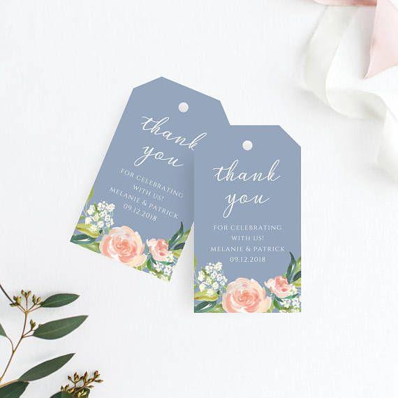 thank you tag wedding thank you tags gift tags wedding favor