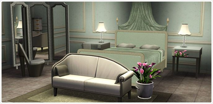 Glitter and glam bedroom store the sims 3 s3 store for Sims 3 bedroom designs