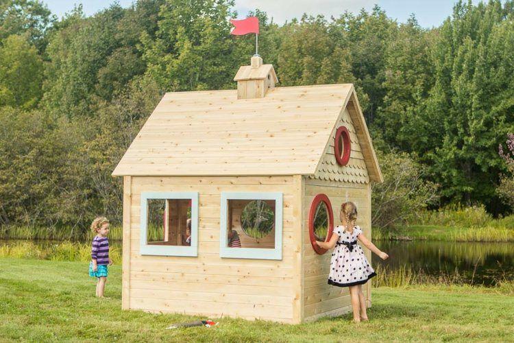 Spielhaus Garten Holz