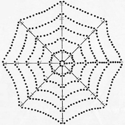 crochet spiderweb ~ I think the instructions are in German? Would ...