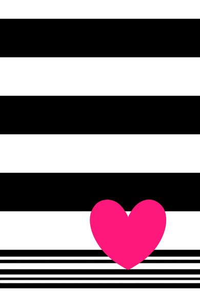Black And White Stripes And Neon Pink Heart Art Print Heart Art