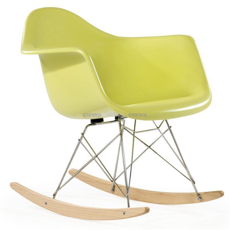 Rocking Chair Fiber glass geinspireerd door Charles Eames - Replica design meubelen