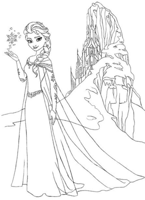 Elsa Snowflake Free Frozen Coloring Page Disegni Da Colorare