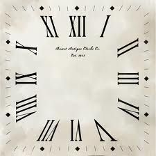 square clock face template - Google Search