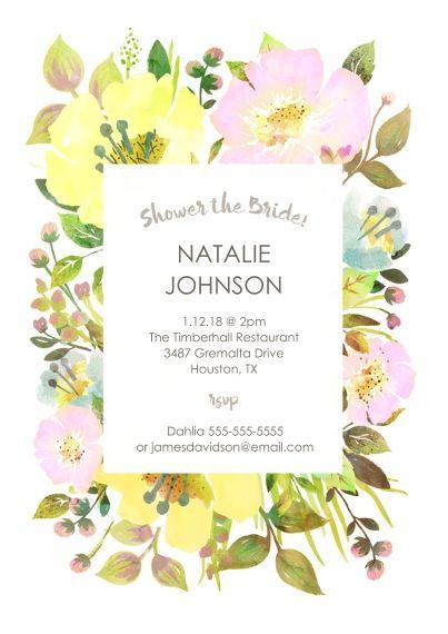 Wedding Shower Invitations Photo Invites Snapfish