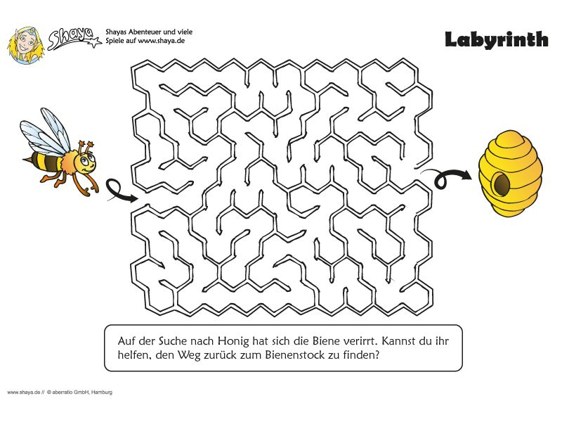 Kniffliges Labyrinth für Kinder! #kids #printable | Arbeit ...
