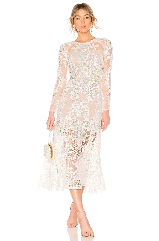 Bronx and banco boho bridal gown in white revolve fashion