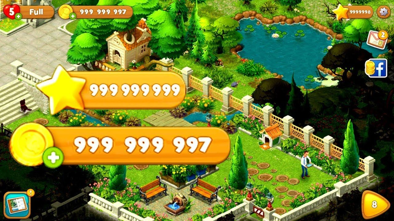 Gardenscapes Hack Unlimited Stars And Coins 100