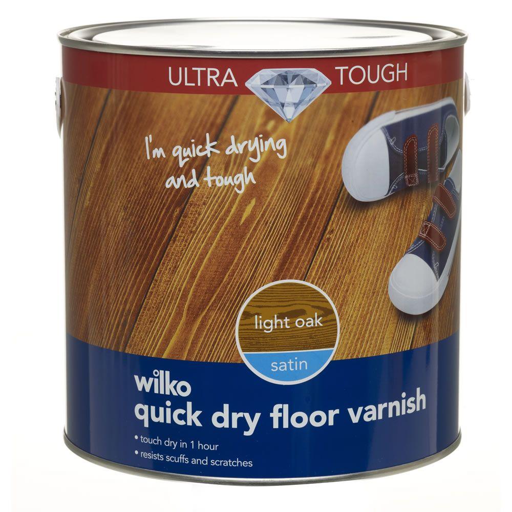 wilko satin quick dry ultra tough floor varnish light oak. Black Bedroom Furniture Sets. Home Design Ideas