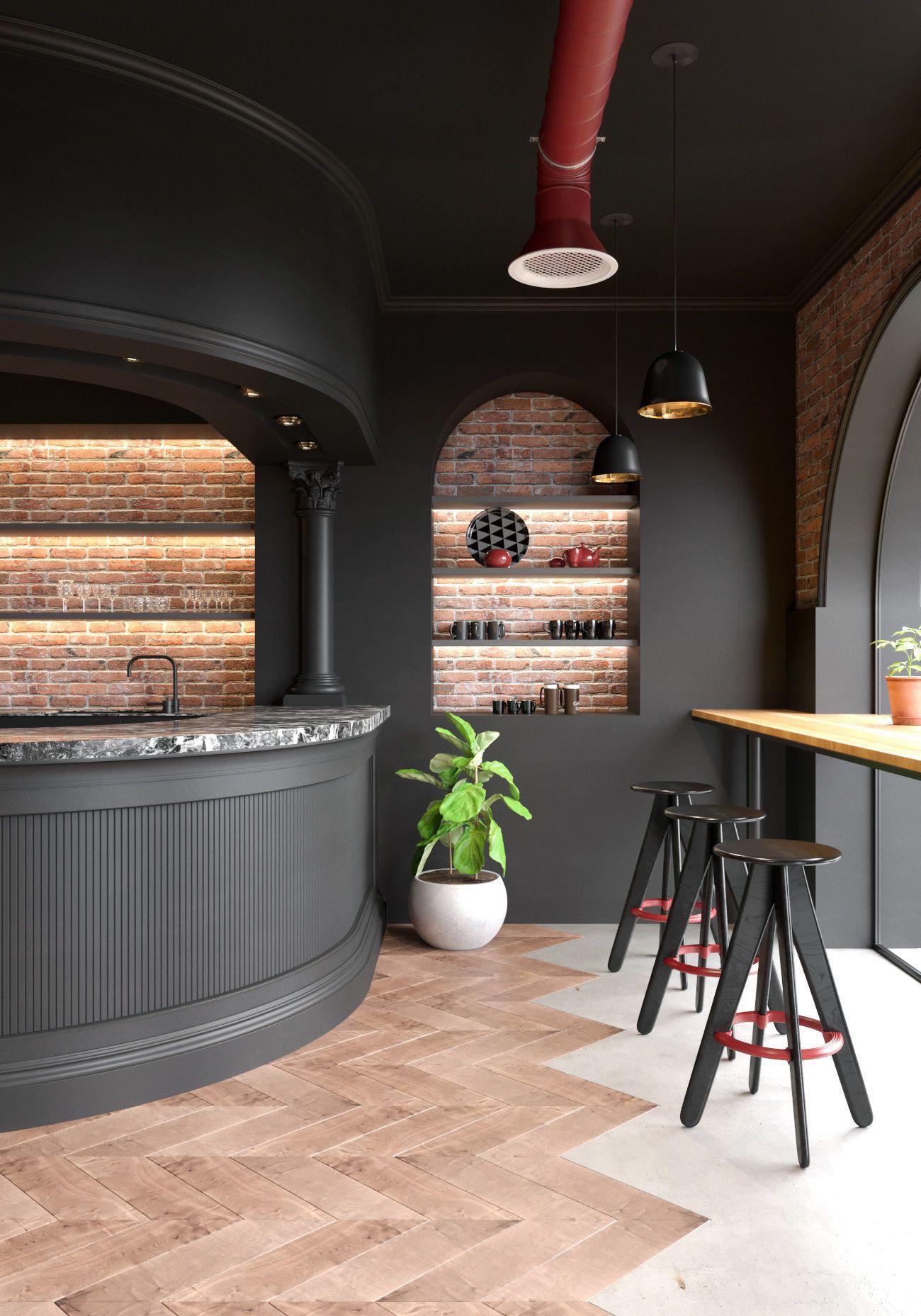 MODERN CLASSIC CAFE 3D | CGTrader | Cafe interior design ...