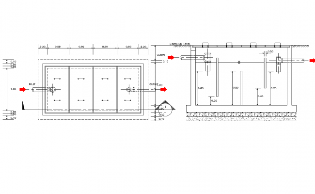 Grease Trap Pit Plan Detail Dwg File How To Plan Small Modern Home Grease