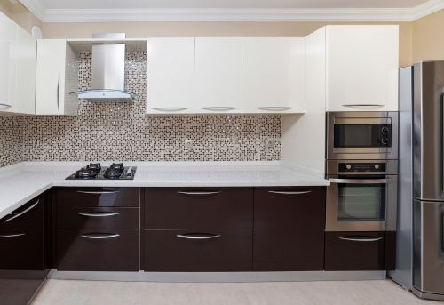 High Quality White And Brown Kitchen Cabinet
