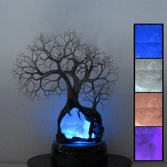 9 Quot Wire Tree Of Life Sculpture Natural Brazil Quartz