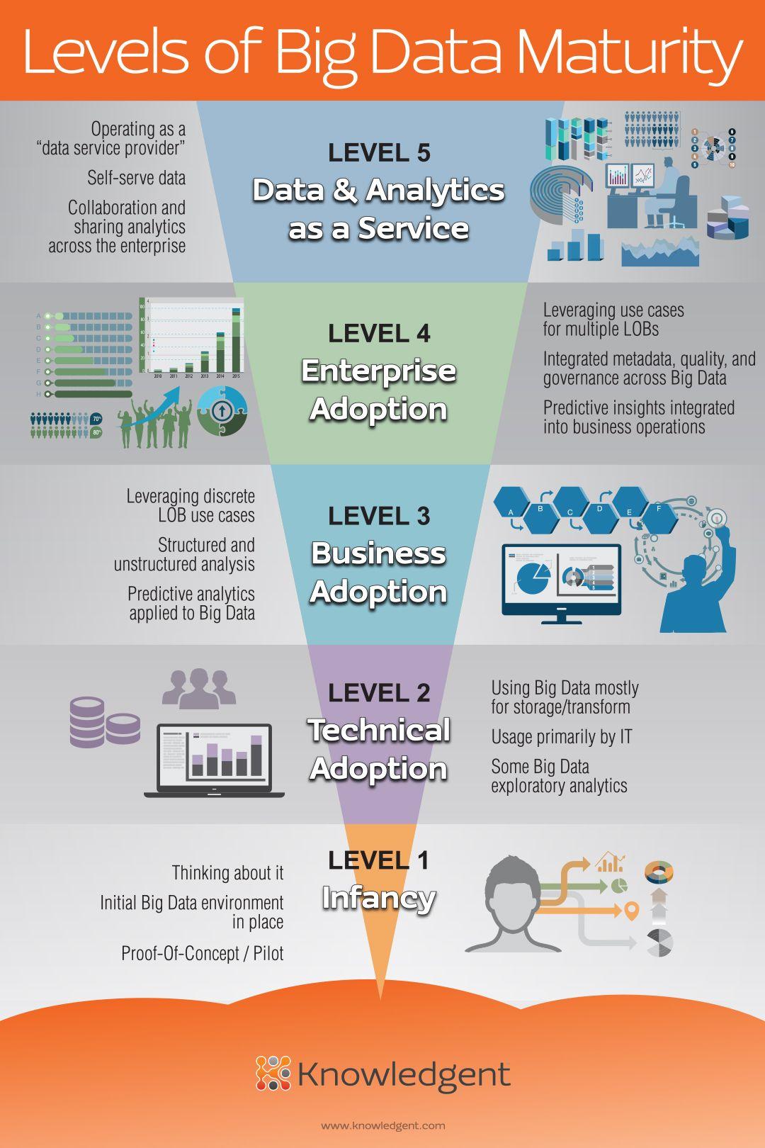 Levels Of Big Data Maturity Infographic Knowledgent Big Data Data Science Big Data Analytics